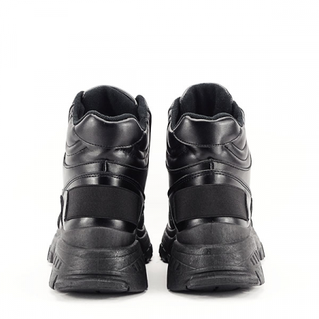 Sneakers negri cu talpa groasa Betty6