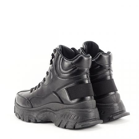 Sneakers negri cu talpa groasa Betty3