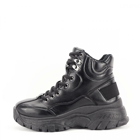Sneakers negri cu talpa groasa Betty0