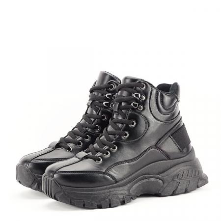 Sneakers negri cu talpa groasa Betty1