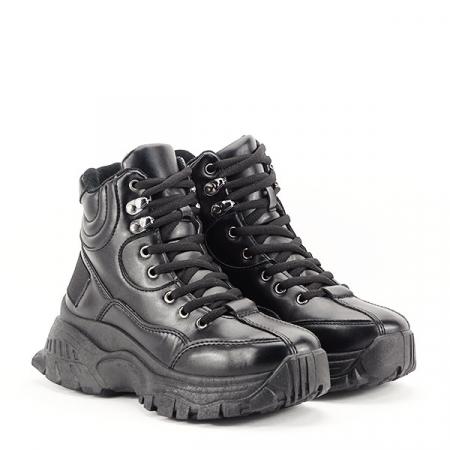 Sneakers negri cu talpa groasa Betty2