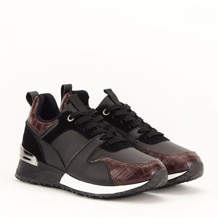 Sneakers negru cu imprimeu Linda [3]