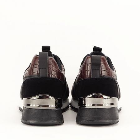 Sneakers negru cu imprimeu Linda [6]