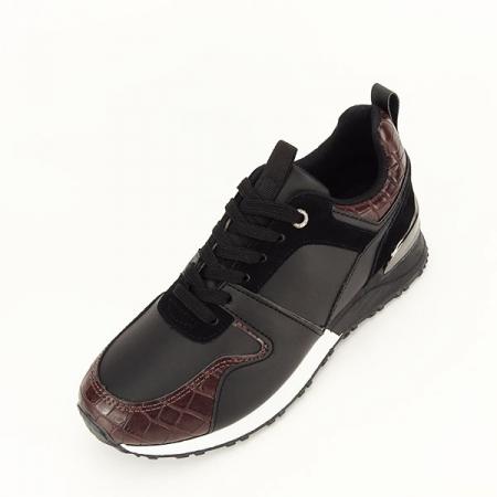 Sneakers negru cu imprimeu Linda [1]