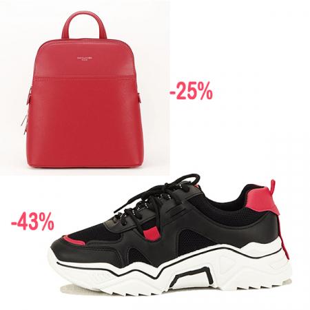 Sneakers negri cu rosu Ioana [8]