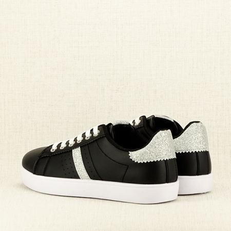 Sneakers negru cu sclipici Betina5