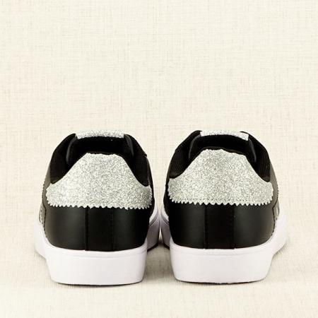 Sneakers negru cu sclipici Betina6