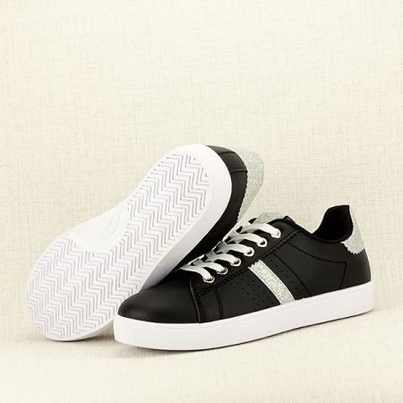 Sneakers negru cu sclipici Betina7