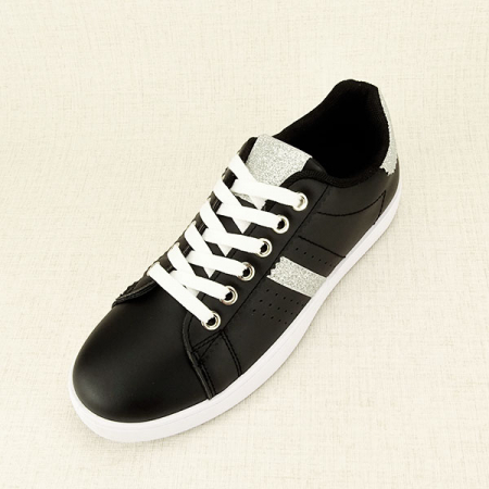 Sneakers negru cu sclipici Betina1