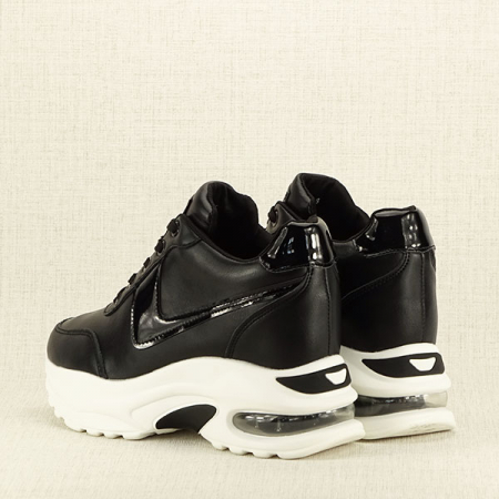 Sneakers negru High-Top Abby3