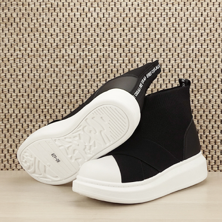 Sneakers negru tip soseta Havana [7]