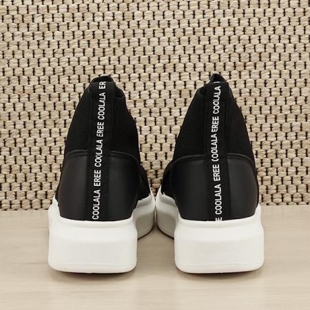 Sneakers negru tip soseta Havana [5]