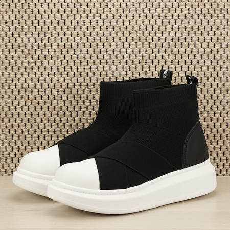 Sneakers negru tip soseta Havana [1]
