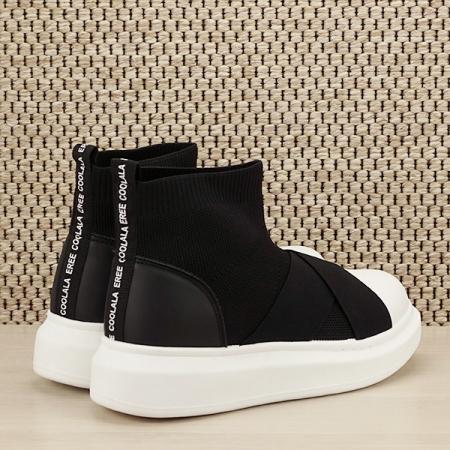 Sneakers negru tip soseta Havana [4]