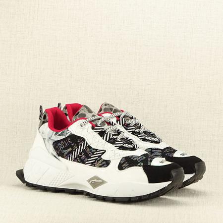 Sneakers negu cu alb Dana3