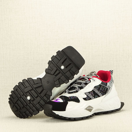 Sneakers negu cu alb Dana7