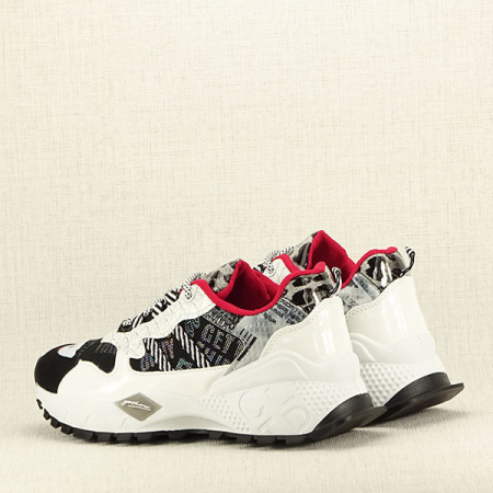 Sneakers negu cu alb Dana5