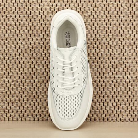 Sneakers piele naturala Aniela alb [6]