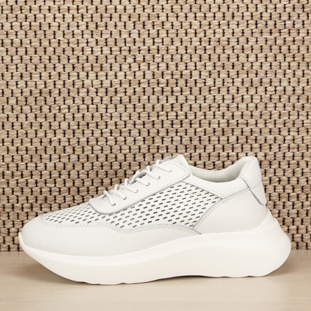 Sneakers piele naturala Aniela alb [1]