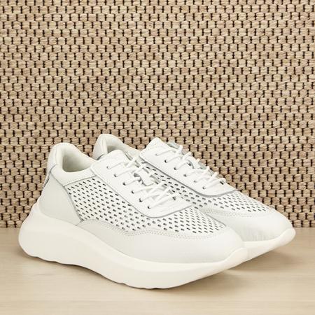 Sneakers piele naturala Aniela alb [2]