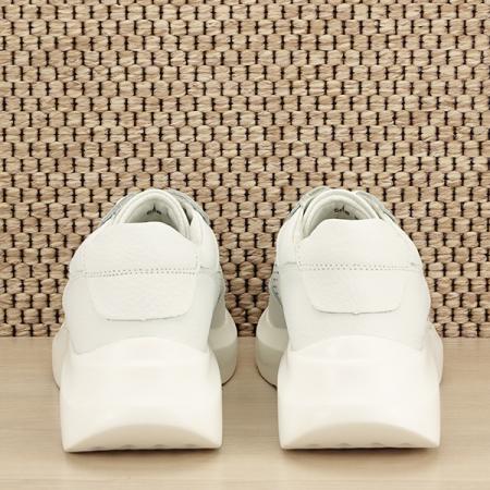 Sneakers piele naturala Aniela alb [5]