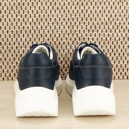 Sneakers piele naturala Aniela bleumarin [5]