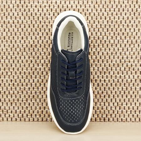 Sneakers piele naturala Aniela bleumarin [6]