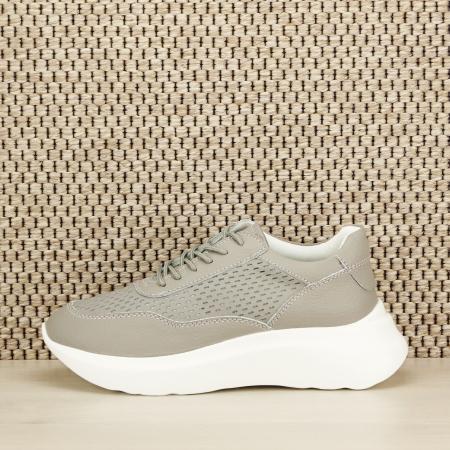 Sneakers piele naturala Aniela gri [1]