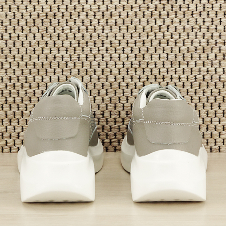 Sneakers piele naturala Aniela gri [4]