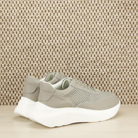 Sneakers piele naturala Aniela gri [3]