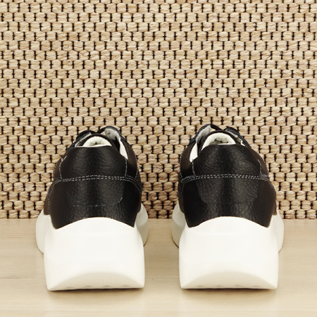 Sneakers piele naturala Aniela negru [5]