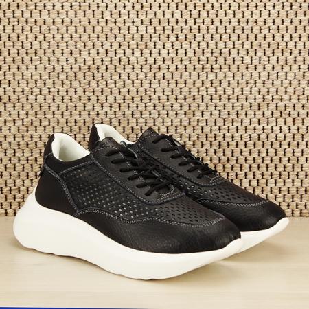 Sneakers piele naturala Aniela negru [2]