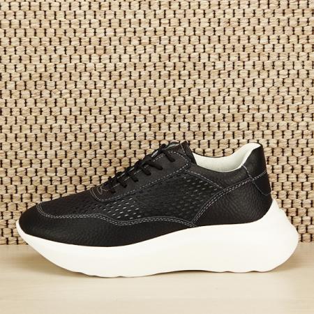 Sneakers piele naturala Aniela negru [1]