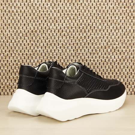 Sneakers piele naturala Aniela negru [4]