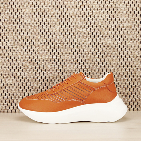 Sneakers piele naturala Aniela portocaliu [1]