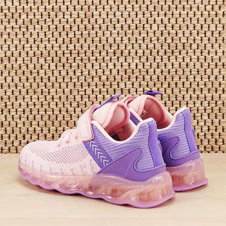 Sneakers copii cu leduri Kim roz cu mov [3]