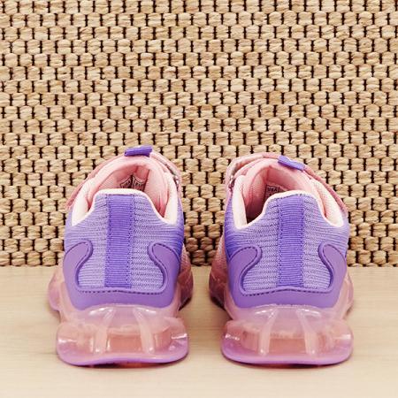 Sneakers copii cu leduri Kim roz cu mov [5]