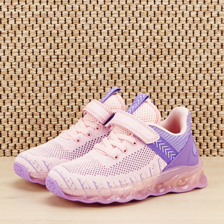 Sneakers copii cu leduri Kim roz cu mov [1]