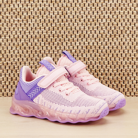 Sneakers copii cu leduri Kim roz cu mov [2]