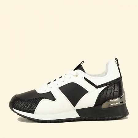 Sneakers alb cu negru Crista [0]