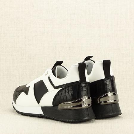 Sneakers alb cu negru Crista [4]