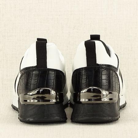 Sneakers alb cu negru Crista [6]