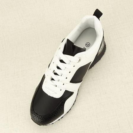 Sneakers alb cu negru Crista [1]