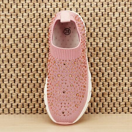 Tenisi copii roz cu pietre Natalia [6]