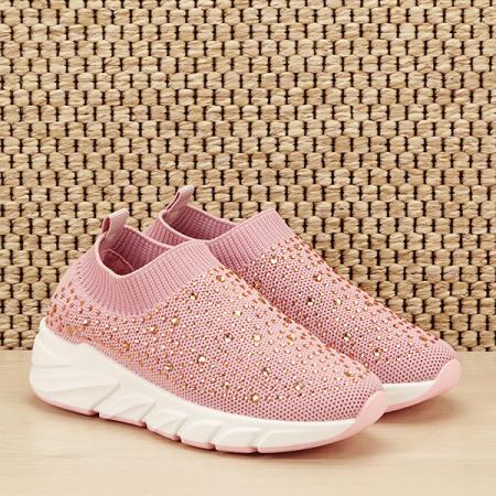 Tenisi copii roz cu pietre Natalia [2]