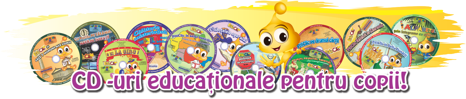 CD-uri educaționale pentru copii!