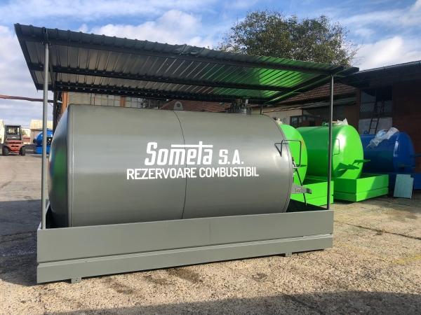 Rezervor suprateran 9000 litri cu copertină și pompă CUBE 56 1