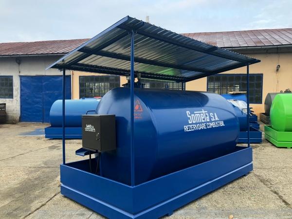 Rezervor suprateran  9000 litri cu copertină și pompă ST BOX 1