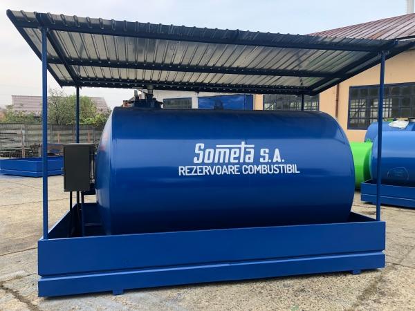 Rezervor suprateran  9000 litri cu copertină și pompă ST BOX 0