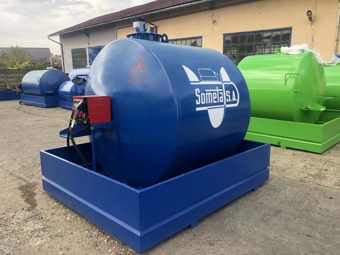 Rezervor suprateran 5000 litri cu pompa CUBE 56 cu contor mecanic [8]